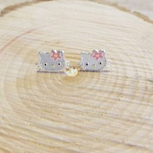 Sterling silver Hello Kitty studs